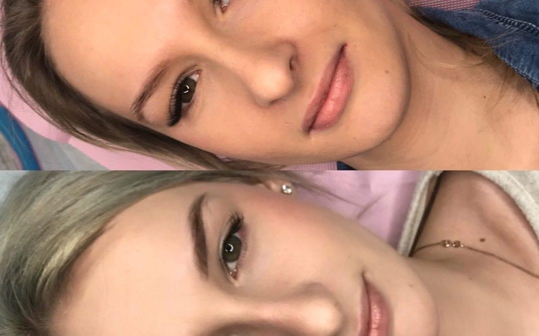 Brwi po makijażu permanentnym